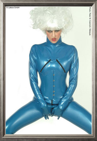 Zippered Breasts Catsuit